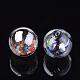 Handmade Blown Glass Globe BeadsDH017J-1-14mm-AB-2