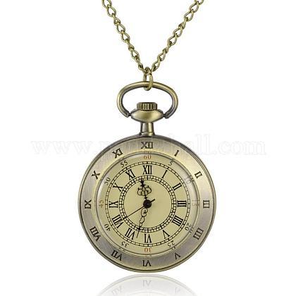 フラットラウンド合金クォーツ懐中時計WACH-N039-07AB-1