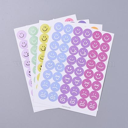 Patrón de expresión emocional etiquetas decorativas pegatinasDIY-L037-J01-1
