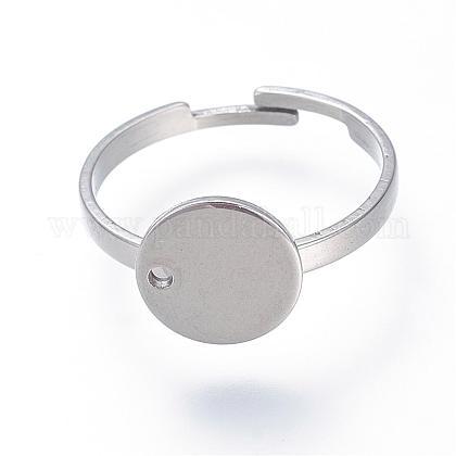 Ajustable 304 base de anillo de almohadilla de acero inoxidableSTAS-S064-11-1
