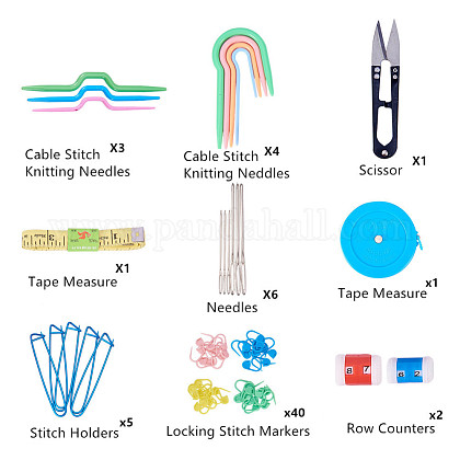 プラスチック製のかぎ針編み針TOOL-BC0008-04-1