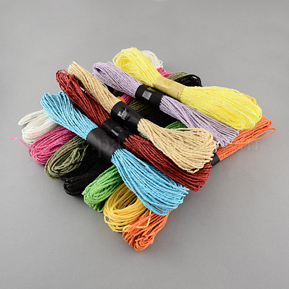 Mixed Color Twisted Paper Cord DIY-S003-03-30m-1