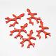 Rama de coral teñido sintética colgantes grandesX-CORA-L041-01B-1