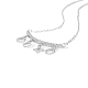TINYSAND® Sterling Silver CZ Rhinestone Pendant NecklacesTS-N165-S-18-2