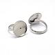 Componentes de anillos de dedo de 304 acero inoxidable ajustablesSTAS-L193-P-14mm-3