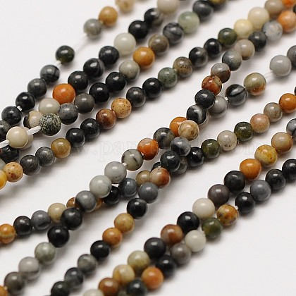 Natural Picasso Stone/Picasso Jasper Bead Strands G-A130-3mm-22-1