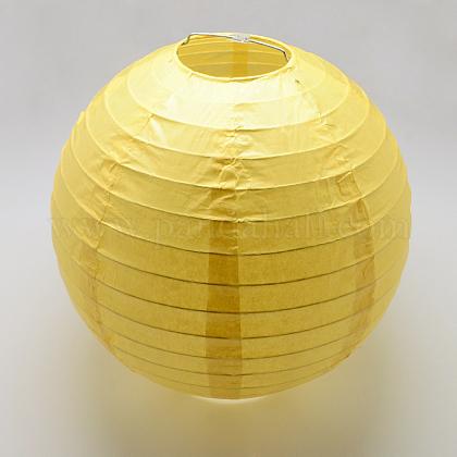 Accessoires de décoration lanterne en papierAJEW-Q103-03C-01-1