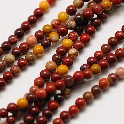 Natural Mookaite Round Bead StrandsX-G-A130-2mm-15-1
