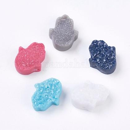 Abalorios de resina de piedras preciosas de imitaciónRESI-K006-B-1