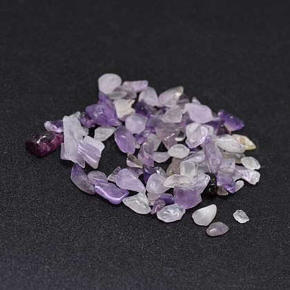Natural Amethyst Chip Beads X-G-O103-10-1