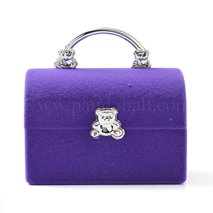 Женская сумка с бархатными шкатулками в форме медведяVBOX-L002-E01-1