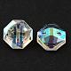 2-Hole Taiwan Acrylic Rhinestone Octagon ButtonsBUTT-F016-11.5mm-15-2