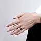 Модные 316л титана стали широкие полосы кольца для мужчинRJEW-BB07218-8-5