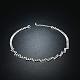 Shining Brass Rhinestone Wedding Bride Jewelry SetsSJEW-BB15895-4