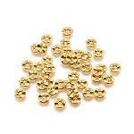 Tibetan Style Wavy Spacer Beads, Lead Free, Flat Round, Antique Golden, Size: about 7mm in diameter, 1mm thick, hole: 1mm