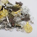 アイアン製ダッカールクリップパーツ, 真鍮パーツ, 混合スタイル, ミックスカラー, 33~65x16~35mm