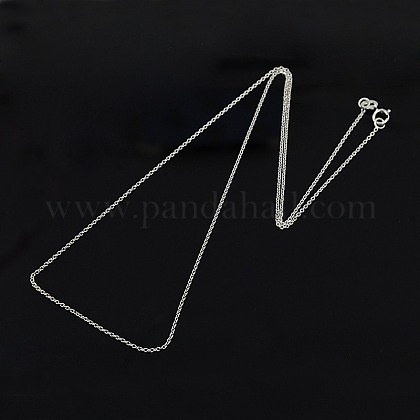 Trendy Unisex Sterling Silver Cable Chains Necklaces STER-M034-B-07-1