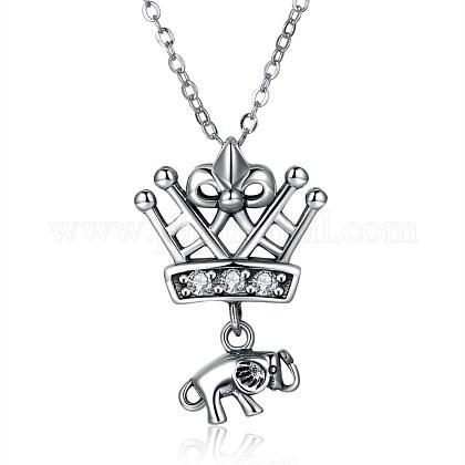 Tailandeses 925 collares pendientes de plata de leyNJEW-BB32719-1