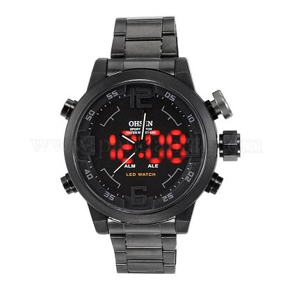 Fashion Stainless Steel Men's Electronic WristwatchesWACH-I005-07C-1
