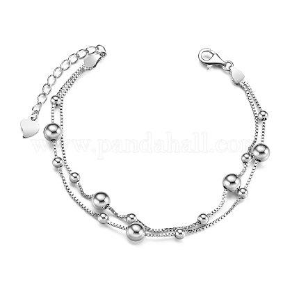 SHEGRACE® 925 Sterling Silver Multi-strand BraceletsJB499A-1
