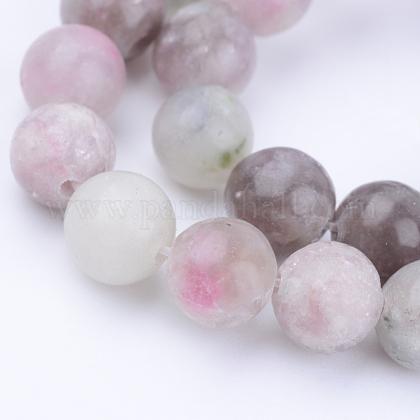 Chapelets de perles en jade lilas naturelG-Q462-8mm-29-1