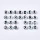 Transparent Acrylic BeadsX-TACR-Q101-03-2