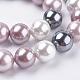 Cuentas de perlas de concha de electrochapaBSHE-E018-12mm-05-1