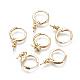 Brass Huggie Hoop Earring FindingsKK-L177-37-2