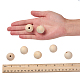 Unfinished Natural Wood Beads Spacer Craft Beads for DIY Macrame Rosary Jewelry X-WOOD-S651-25mm-LF-3