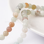 Natural Amazonite Beads Strands, Round, 4mm, Hole: 0.8mm; about 89pcs/strand, 15inches