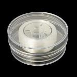 Hilo de cristal elástico japonés, cuerda de pulsera elástica, con caja de embalaje, Claro, 1mm, 35 yardas / caja