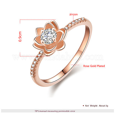 Jewelry Supplier Whosale Ring Raw Brass Ring AR094 Flower Adjustable Ring