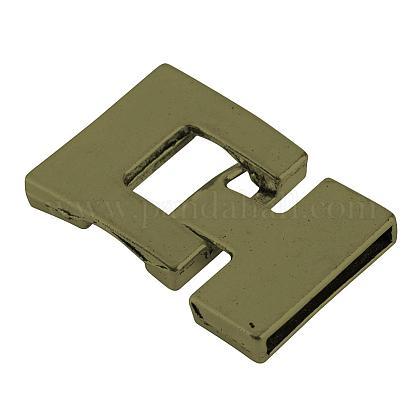 チベット風合金スナップロッククラスプTIBEP-S298-030AB-LF-1