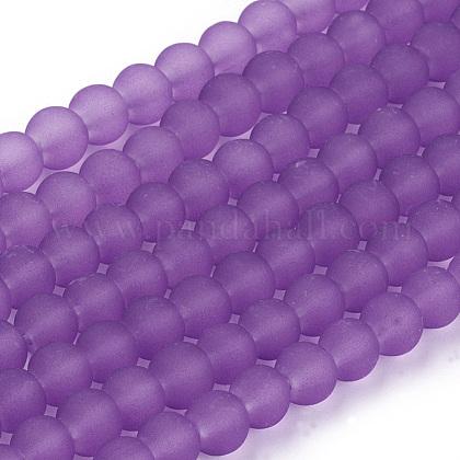 Chapelets de perles en verre transparentGLAA-S031-6mm-32-1
