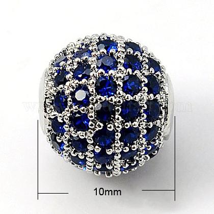 Latón abalorios de circonio cúbicoX-ZIRC-D009-03P-1