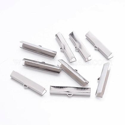真鍮製カシメリボン止めエンドパーツEC727-NF-1