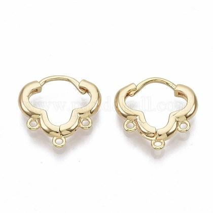 Brass Huggie Hoop Earring FindingsX-KK-T051-39G-NF-1