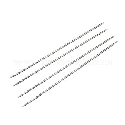 Agujas de tejer de doble punta de acero inoxidableTOOL-R044-240x1.4mm-1