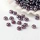 Perles de verre rondes lustrées fgb® 12/0 couleurs transparentesSEED-A022-F12-527-1