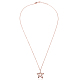TINYSAND® Sterling Silver Star Rhinestone Pendant NecklacesTS-N264-RG-3
