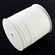 1/8inch Single Face Velvet Ribbon, White, 1/8inch(3.2mm); about 200yards/roll(182.88m/roll)