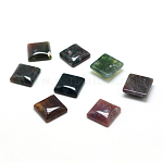 Natural Indian Agate Gemstone Cabochons, Square, 10x10x5mm