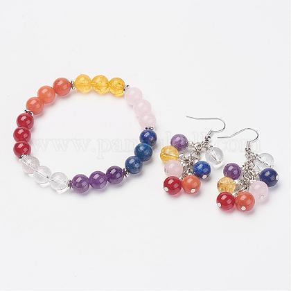 Mixed Gemstone Jewelry SetsSJEW-JS00908-1