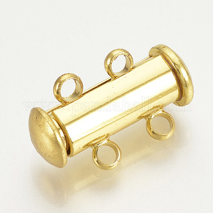 Brass Slide Lock ClaspsKK-Q740-08G-1