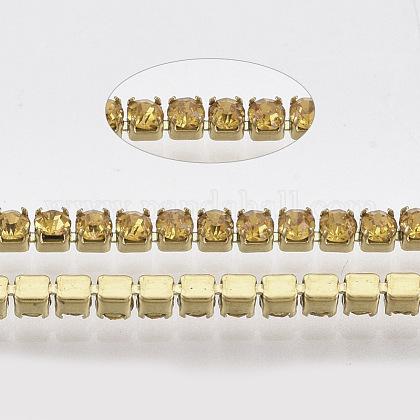 304 acero inoxidable cadena de strass de rhinestoneSTAS-T055-10G-1