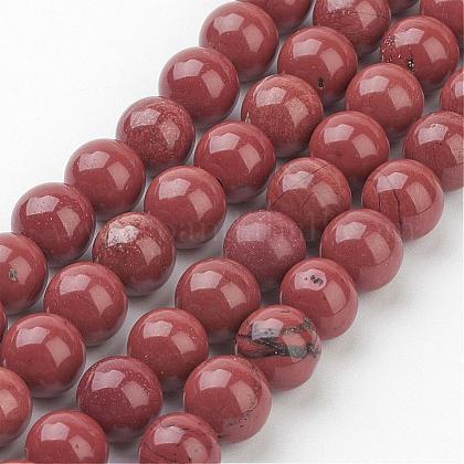Natural Red Jasper Round Beads StrandsGSR011-1