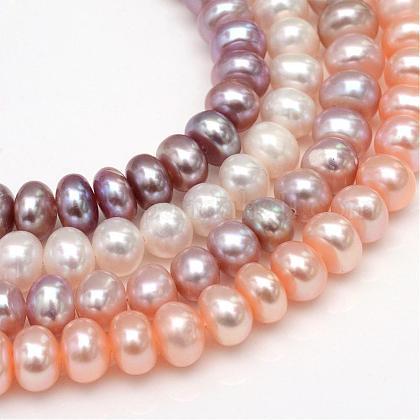 Hebras de perlas de agua dulce cultivadas naturalesPEAR-S002-8~9mm-M-1