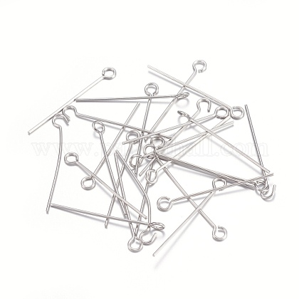 Épingles à œil en 304 acier inoxydableSTAS-O105-01P-0.6x25mm-1