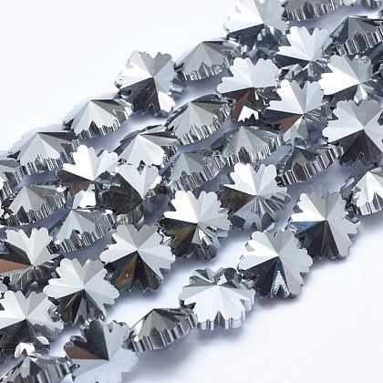 Abalorios de vidrio electroplate hebrasEGLA-F134-FP01-1