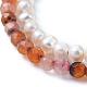 Conjuntos de pulseras con cuentas de ágata roja natural / cornalina y perlas de agua dulceBJEW-JB05145-01-2